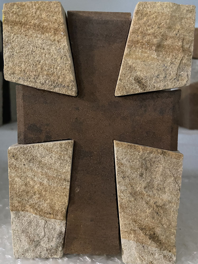 Brown in White Cross